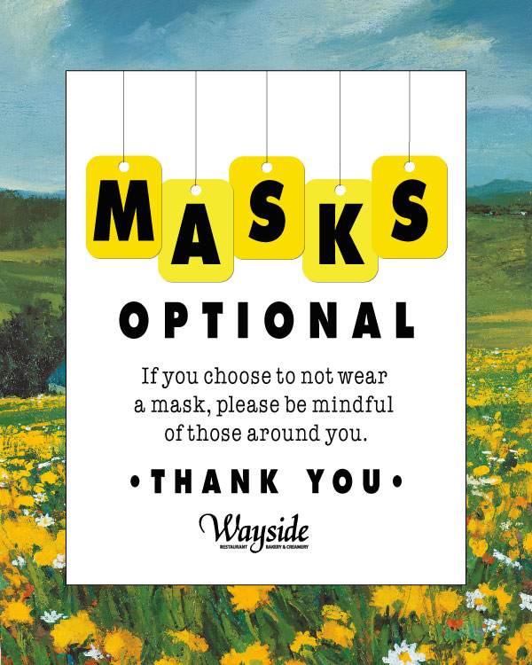 Masks are Optional at the Wayside Restaurant